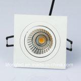 Lampadaire élégant à LED en plafond Dowblight encastré 7W 9W LED Grille Lights