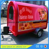 Yieson stellte Fiberglas Hotdog-Karren-Schlussteil mobile Nahrungsmittel-LKWas her