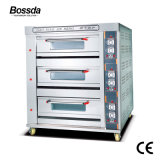 De in het groot Oven van de Pizza van het Dek van de Apparatuur van de Bakkerij van het Gas van de Machine voor Baksel 3decks 6trays