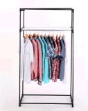 Stand d'étagère de crémaillère de vêtement de tissu de garde-robe de tissu d'Amjsjw013b