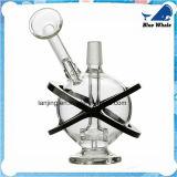 Bw125 tubo que fuma del agua de cristal desmontable del globo del OEM Handblown