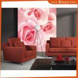 ホーム装飾の絵画のためのピンクの花デザイン壁紙の現代様式