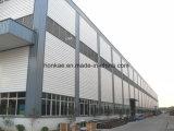 Estructura de acero de la azotea metálica del almacén
