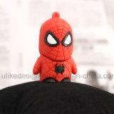 Movimentação irritada do flash do USB do PVC do homem de aranha (UL-PVC011)