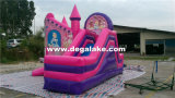 Princesse gonflable rose Bouncy Slide Combo, princesse Bouncer