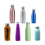 Bottiglia di acqua doppia di sport isolata vuoto dell'acciaio inossidabile