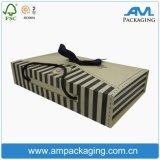 Ручки картонной коробки женское бельё упаковывая складывая коробку для одежды