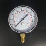 046 クロムによってめっきされるリングが付いている100mmの黒い鋼鉄最下の圧力計