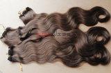 人間の自然なカラー完全なクチクラの毛ボディ波状毛の編むこと
