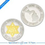 Blu marino/polizia/premio/ricordo/memoriale/moneta dorati antichi di sfida