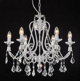Lampadario a bracci contemporaneo dell'a cristallo della perla