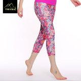 다채로운 인쇄된 소녀 적당 Capri Legging