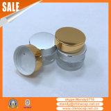 銀製アルミニウム帽子が付いているスキンケアのクリームのゆとりのガラス瓶
