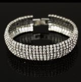 Armband van het Kristal van de Juwelen van de manier de Volledige Zilveren Godsdienstige