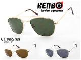 Óculos de sol do metal dos homens os mais atrasados com frame quadrado Km16143