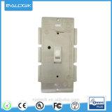 Z-Agitar el interruptor eléctrico sin hilos elegante de la en-Pared con el amortiguador