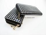 Bunte doppelte Reißverschluss-Mappe, glänzende PU Dame Wallet