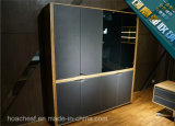 Bibliothèque en bois de modèle neuf populaire avec le cuir (C7)