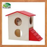 Capanna di legno del piccolo nascondiglio animale dell'animale domestico ed habitat e giocattolo viventi di legno di Playgym per il criceto ed il mouse nani