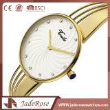 偶然のステンレス鋼の水晶女性の方法手の腕時計