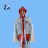Lange Regenjas van de Mensen van pvc de Blauwe met Uitstekende kwaliteit