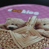 Round Teddy Bear Cartoon Tin Box / Metal Box (R005-V7)
