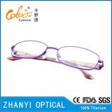 Bêta lunetterie titanique du plus défunt modèle pour la femme (9322)