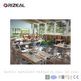 Nuevo escritorio de la escuela del estilo sobre muebles modernos del estudiante del salón de clases