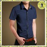 Camicia di Oxford del cotone con il tasto giù