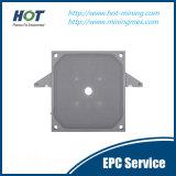 Placa de imprensa automática de alta pressão Recessed do filtro hidráulico
