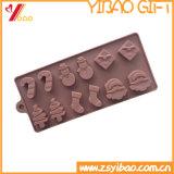 Molde del chocolate del silicón del molde de la torta del silicón del tema de la Navidad/molde del hielo del silicón