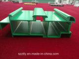 Profil en aluminium fait sur commande enduit d'extrusion de poudre verte