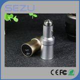 Novo modelo 3 em 1 2 Port Dual USB 3.1A Carregador de carro para iPhone para Samsung