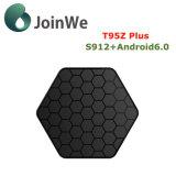 T95z más el rectángulo elegante de Amlogic S912 Ott TV del androide 6.0 de Google