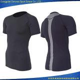 Ropa de deportes de la camiseta de la aptitud de la impresión de la sublimación del precio de fábrica para ejecutarse