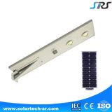 Indicatore luminoso di via solare Integrated di vendita superiore di prezzi all'ingrosso LED tutto in uno con il sensore di movimento e 30W 60W 80W Bridgelux LED