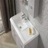 Vanité en céramique fixée au mur de salle de bains en bois solide