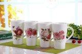 Tazas de café altas blancas de la porcelana del precio competitivo 14oz