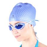 Подгонянные голубые крышки Swim Silcione с собственным логосом