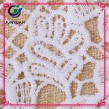 Dyeable 백색 네클라인 꽃 크로셰 뜨개질 레이스 고리 목