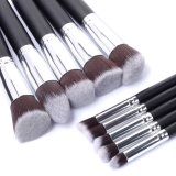 Outils de maquillage Face Eyebrow 10PCS Professional Synthetic Makeup Brushes
