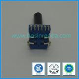 11mmの二重一団のプラスチックシャフトとの回転式電位差計B20k 6 Pin