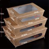 Caja de papel Kraft desechable para el paquete de alimentos