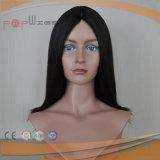 Peluca humana de las mujeres del pelo de la Virgen de Remy del color del negro de jet