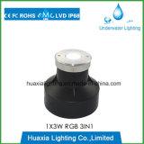 Luz subaquática subterrânea da associação do diodo emissor de luz do aço inoxidável