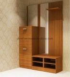 Gabinete moderno da madeira de gabinete da sapata da mobília da sala de visitas (UL-WR008)