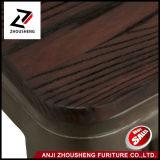 2016新しいAdeco固体木のシートおよび低い背部が付いている30インチの産業シックな金属Barstool