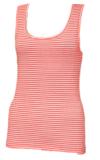 ヤーンの染料の縞の女性タンクトップのTシャツ