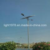 Indicatore luminoso di via solare chiaro alimentato solare installato in Somalia