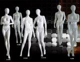 Shinny weiße weibliche Mannequine für Hochzeits-Kleid